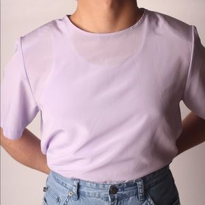 "VTG ""Kathie Lee Collection"" Lilac Blouse"